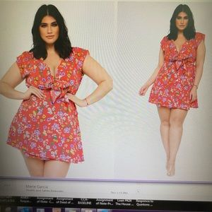 Floral In love Mini Dress-Red